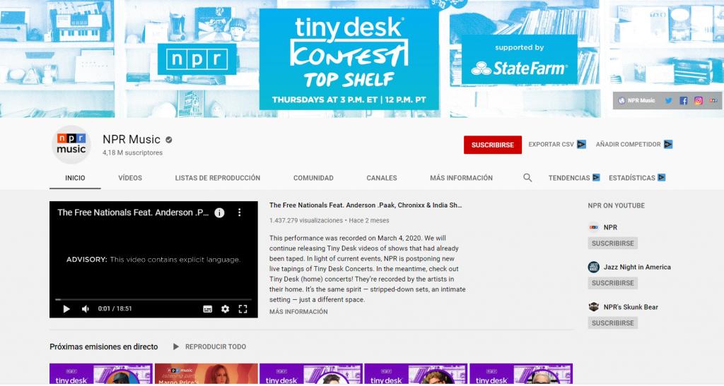 npr youtube